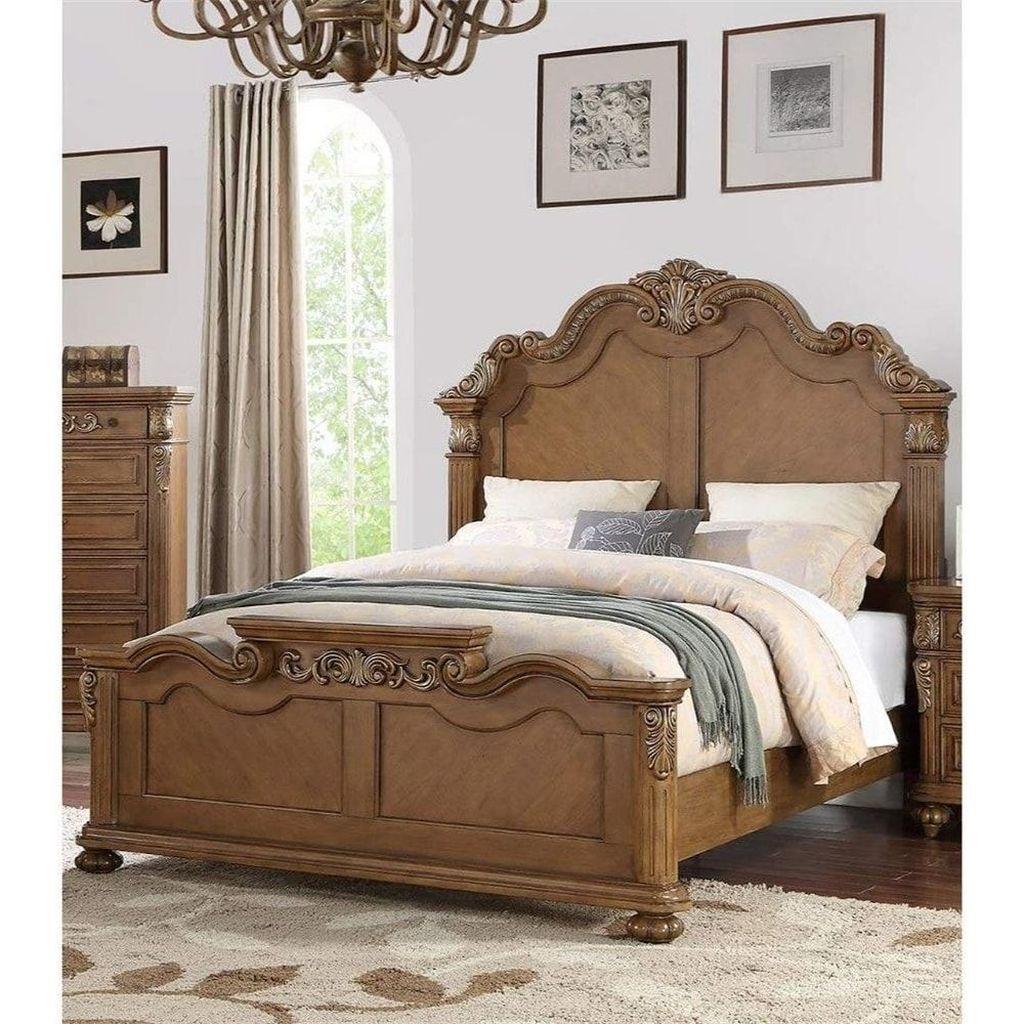 Amazing Vintage Wooden Bed Frame Design Ideas 20
