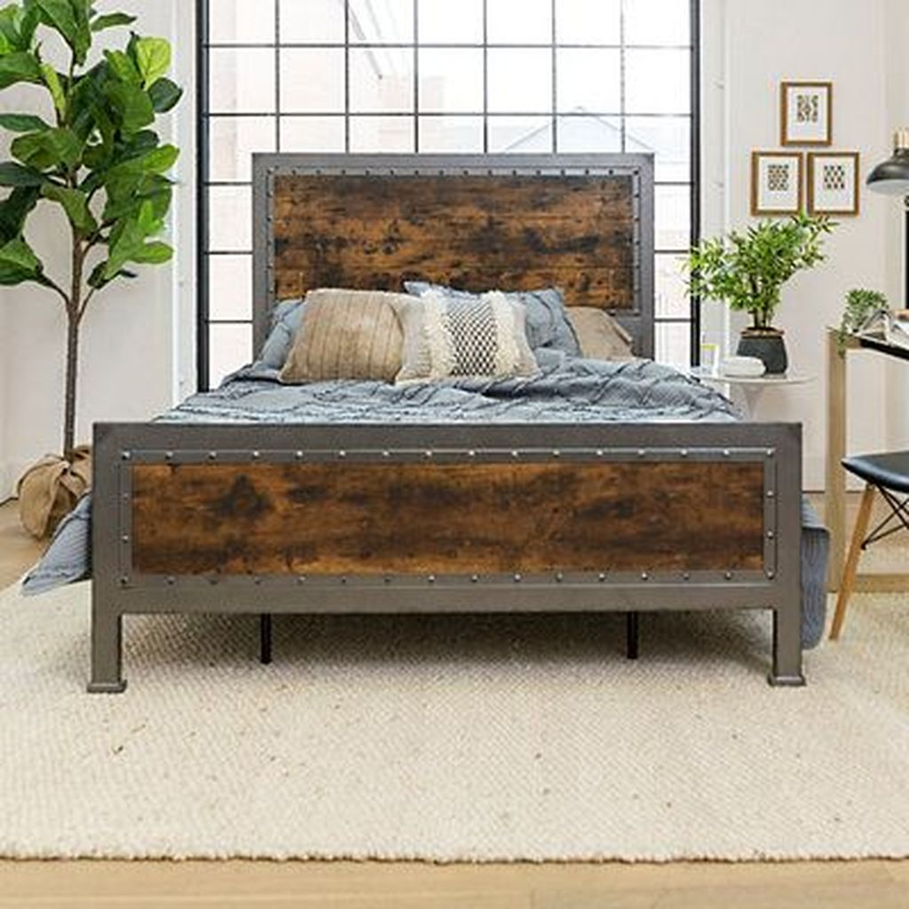 Amazing Vintage Wooden Bed Frame Design Ideas 21
