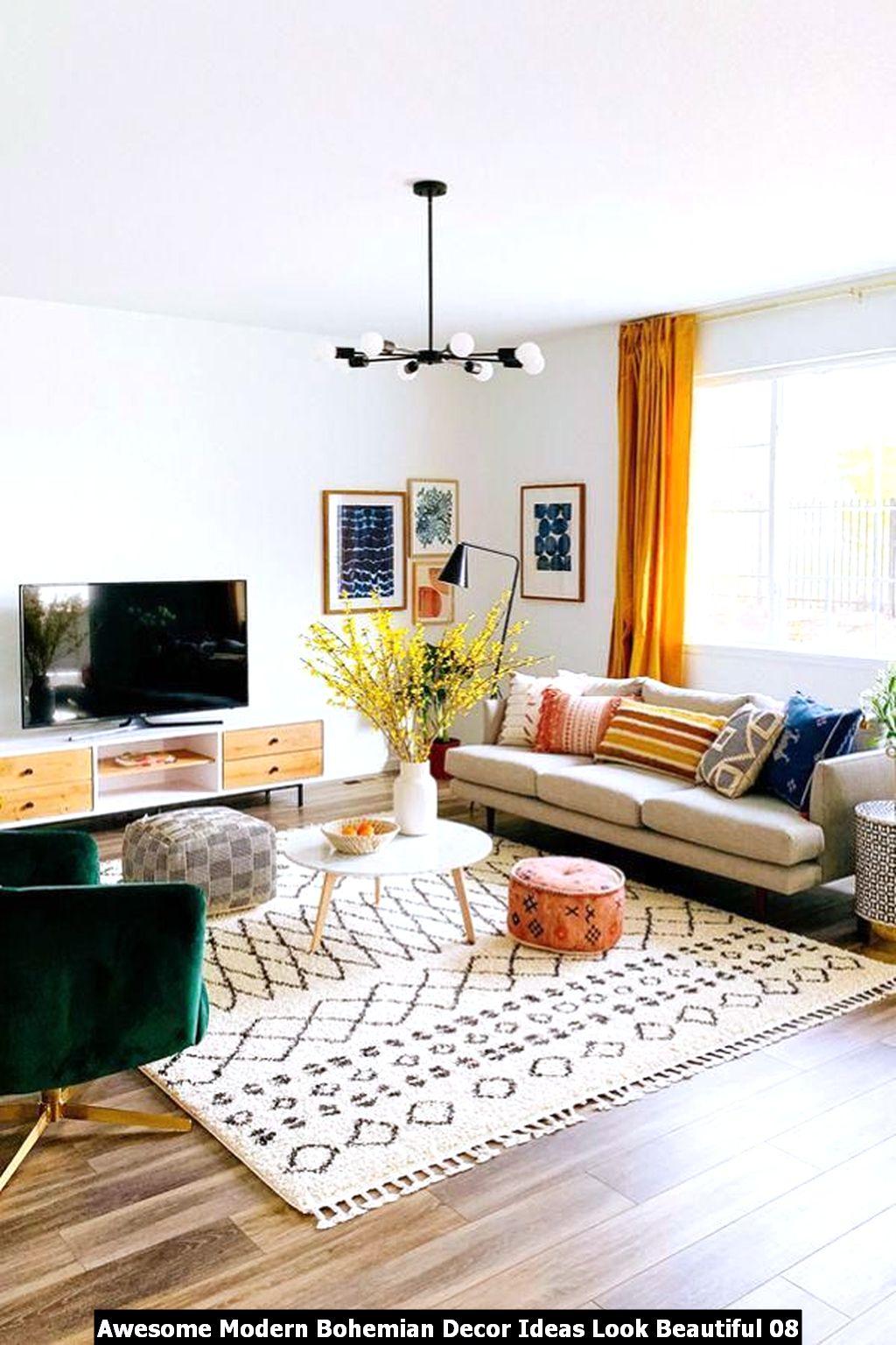 Awesome Modern Bohemian Decor Ideas Look Beautiful 08
