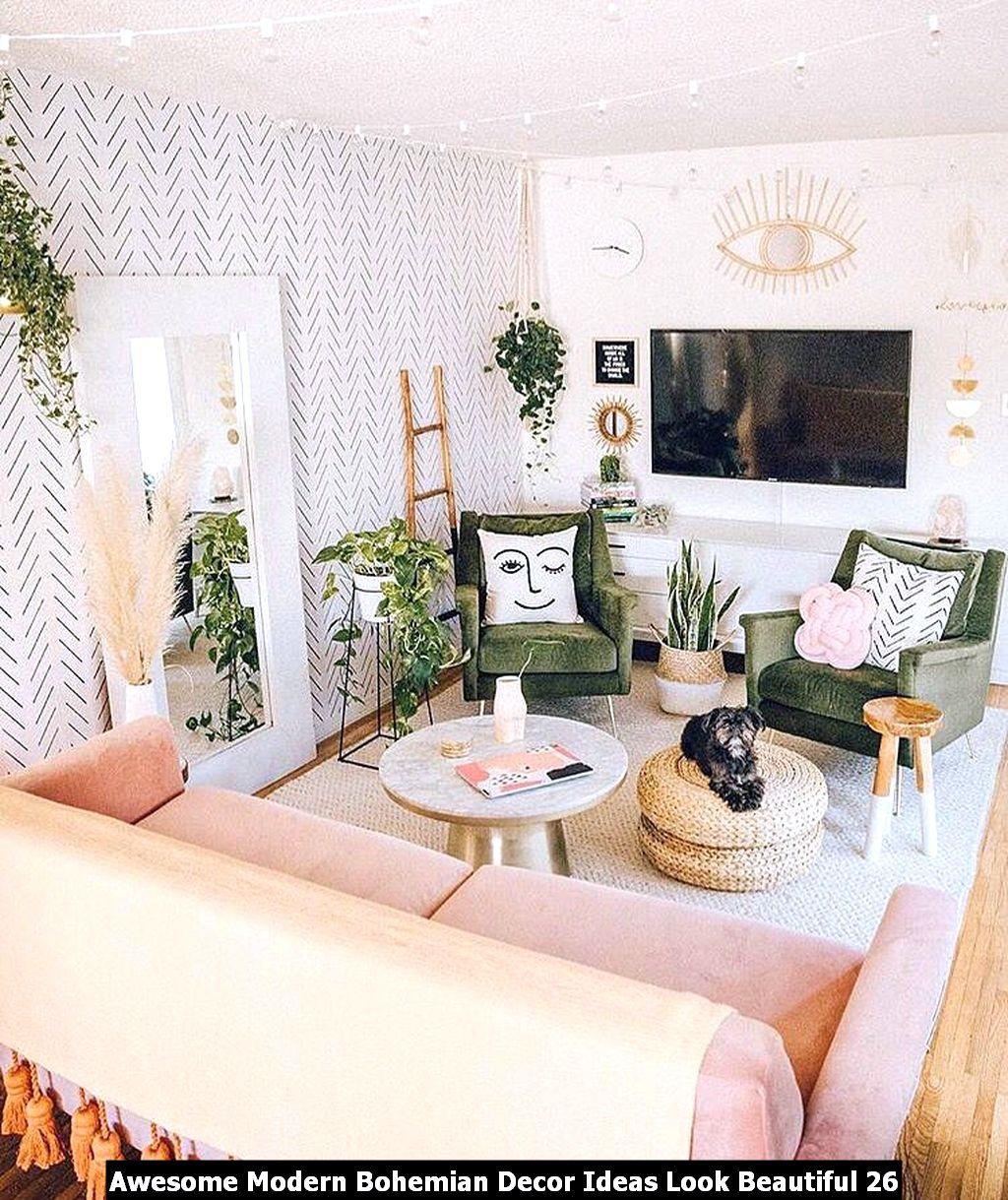 Awesome Modern Bohemian Decor Ideas Look Beautiful 26