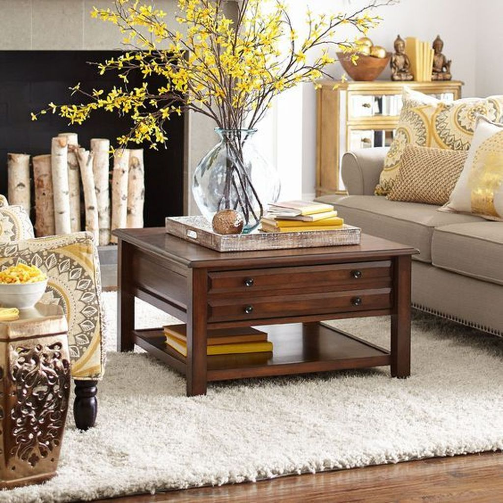Beautiful Living Room Coffee Table Decor Ideas 18