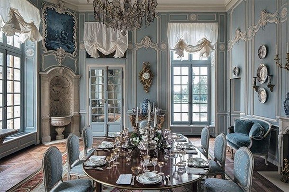 Brilliant French Dining Room Decor Ideas 08