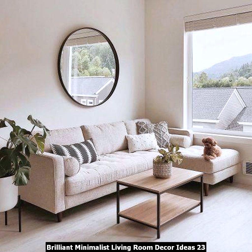 Brilliant Minimalist Living Room Decor Ideas 23