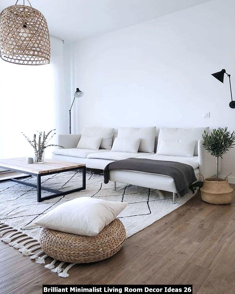Brilliant Minimalist Living Room Decor Ideas 26