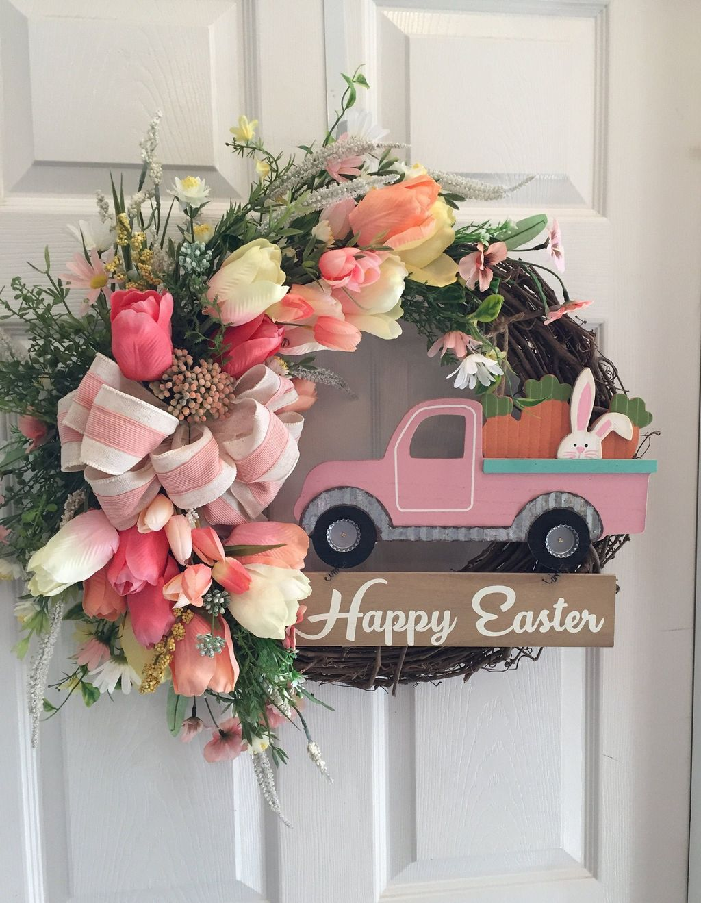 Brilliant Spring Door Wreaths Design Ideas 10