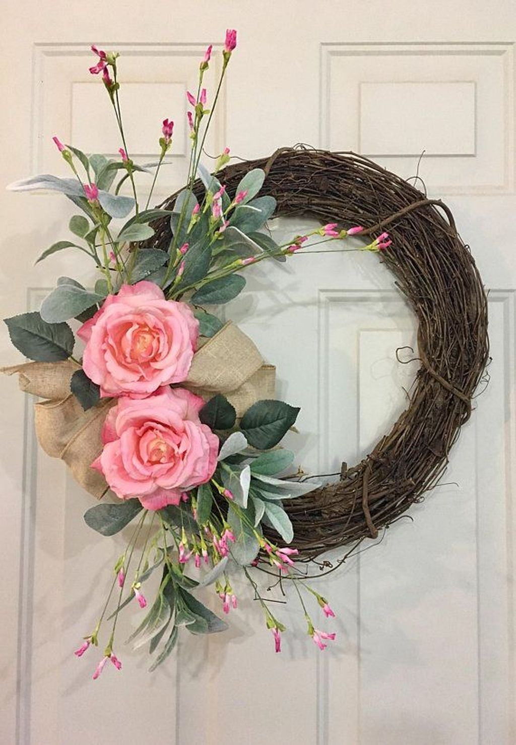 Brilliant Spring Door Wreaths Design Ideas 27