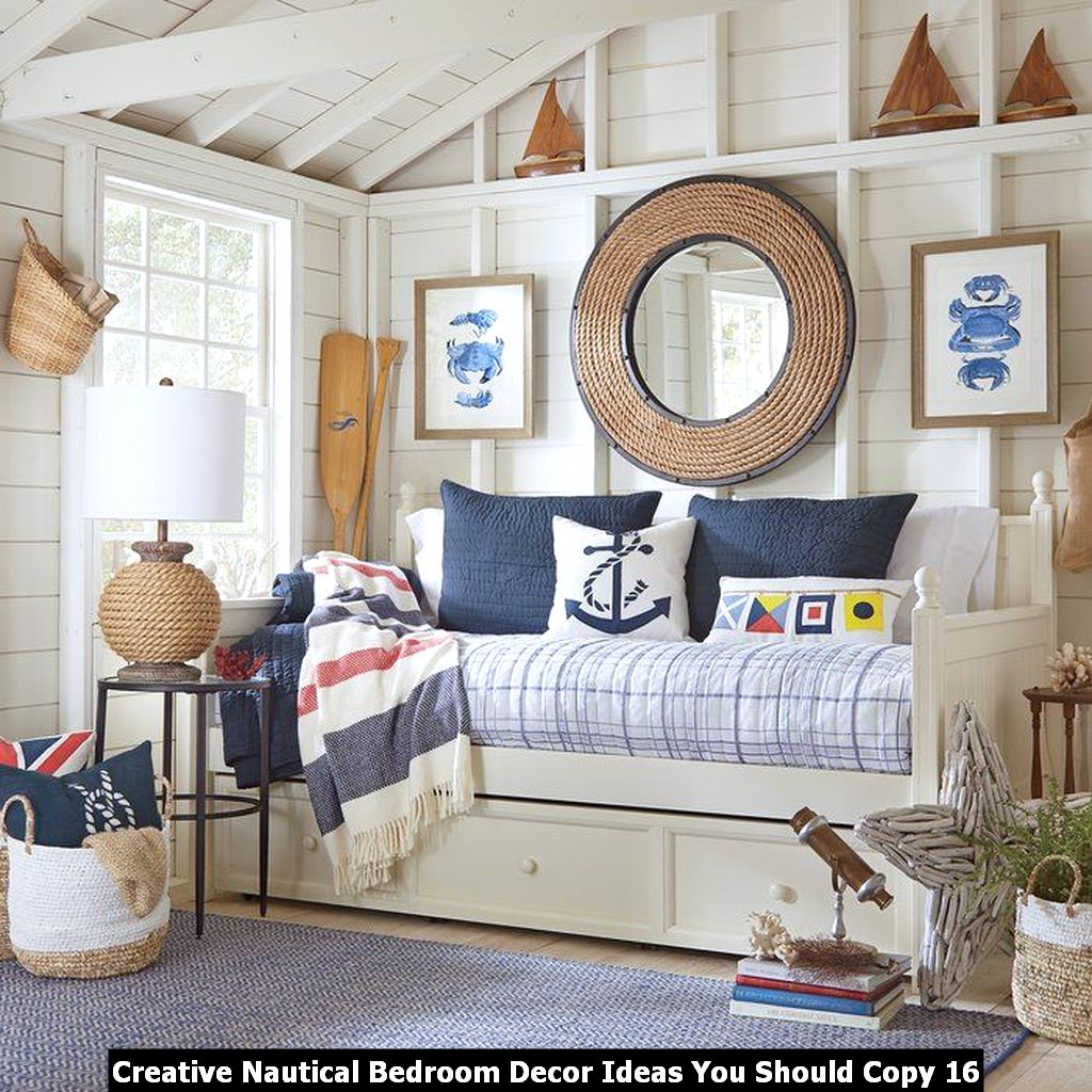 Creative Nautical Bedroom Decor Ideas You Should Copy 16