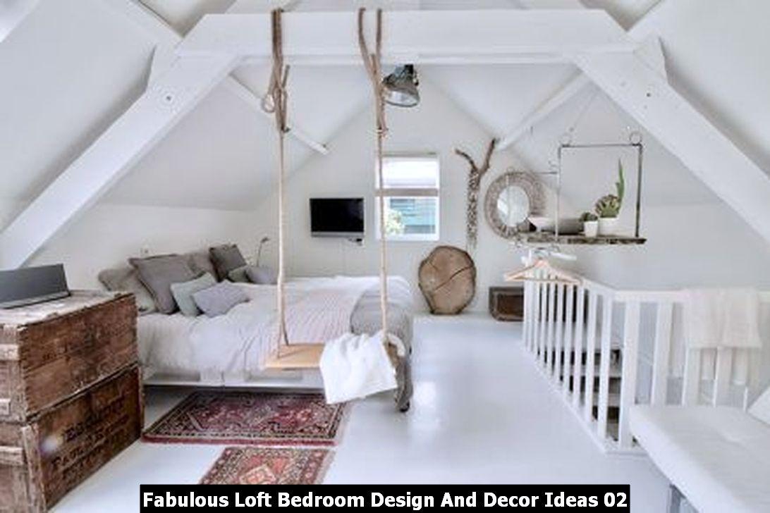 Fabulous Loft Bedroom Design And Decor Ideas 02