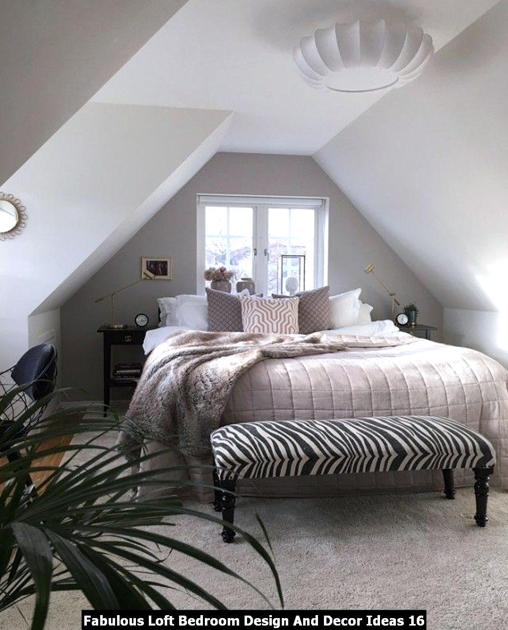 Fabulous Loft Bedroom Design And Decor Ideas 16