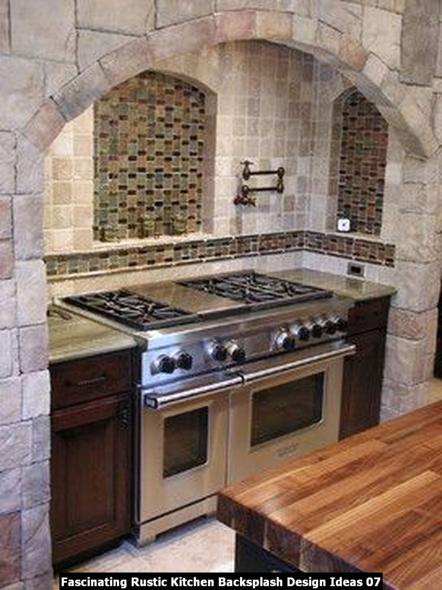 Fascinating Rustic Kitchen Backsplash Design Ideas 07