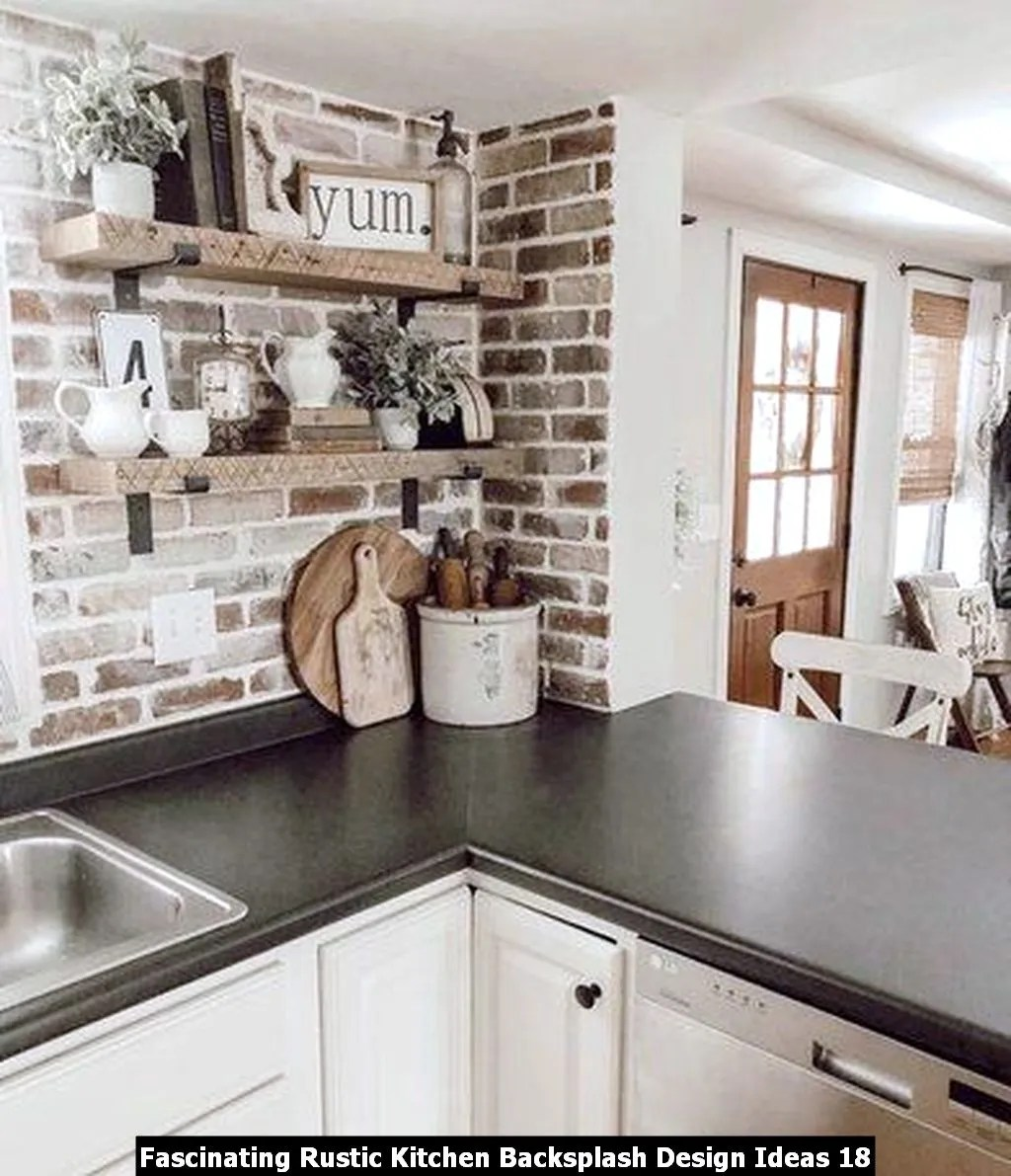 Fascinating Rustic Kitchen Backsplash Design Ideas 18