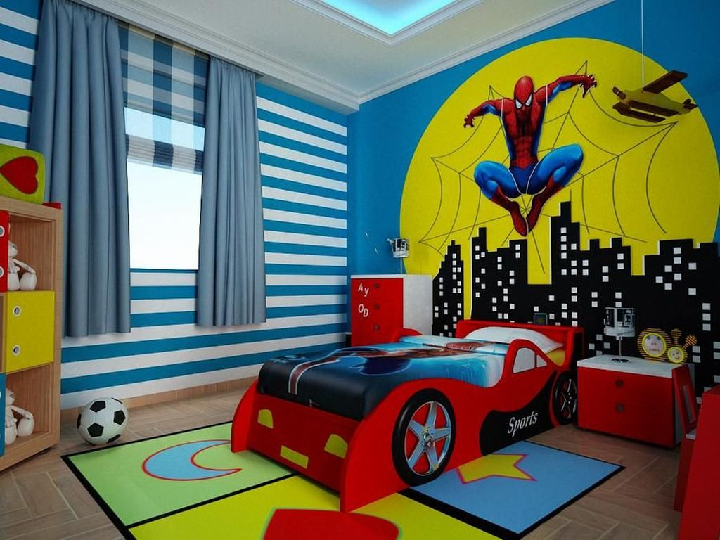 Fascinating Superhero Theme Bedroom Decor Ideas 07