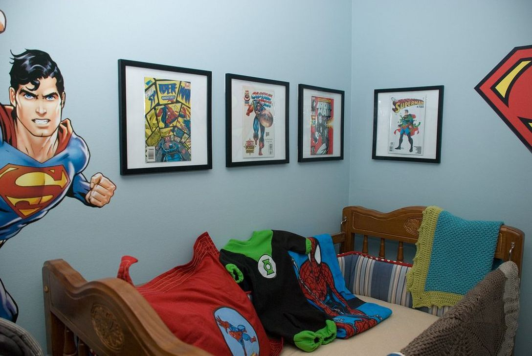 Fascinating Superhero Theme Bedroom Decor Ideas 12
