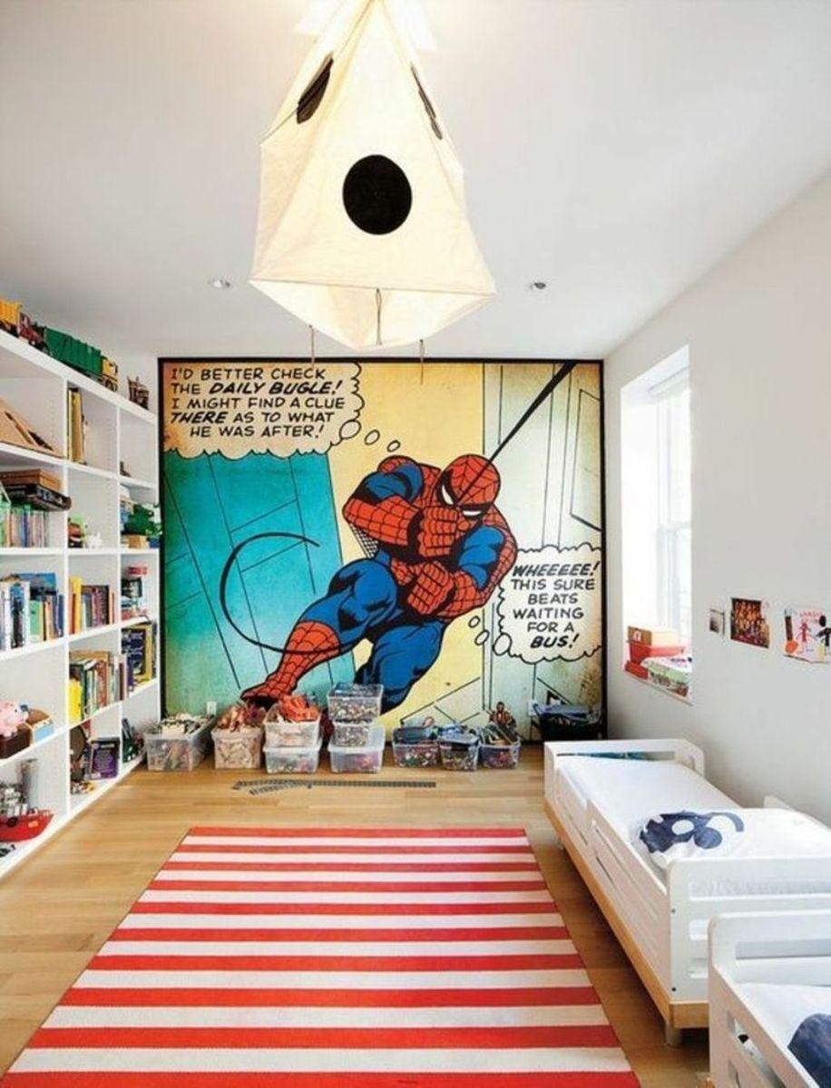 Fascinating Superhero Theme Bedroom Decor Ideas 15