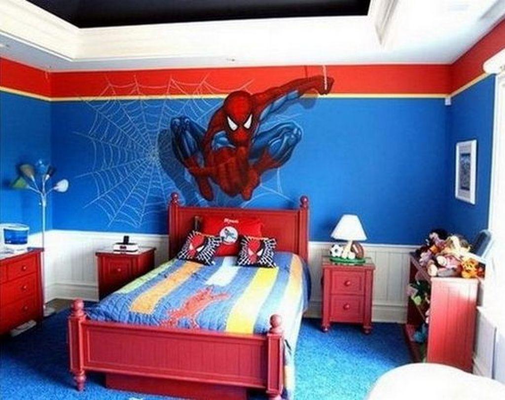 Fascinating Superhero Theme Bedroom Decor Ideas 16