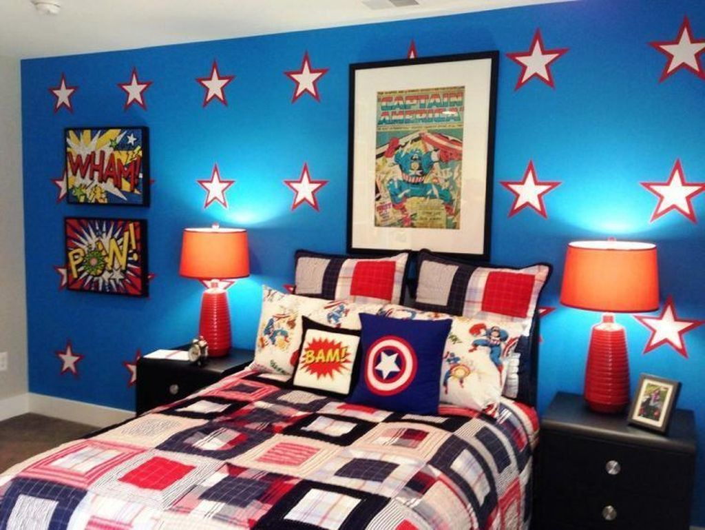 Fascinating Superhero Theme Bedroom Decor Ideas 34