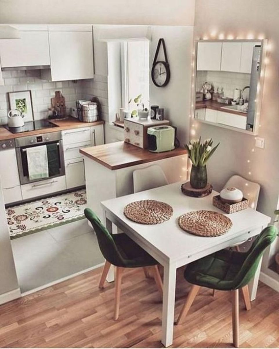 Gorgeous Small Kitchen And Dining Room Design Ideas 01