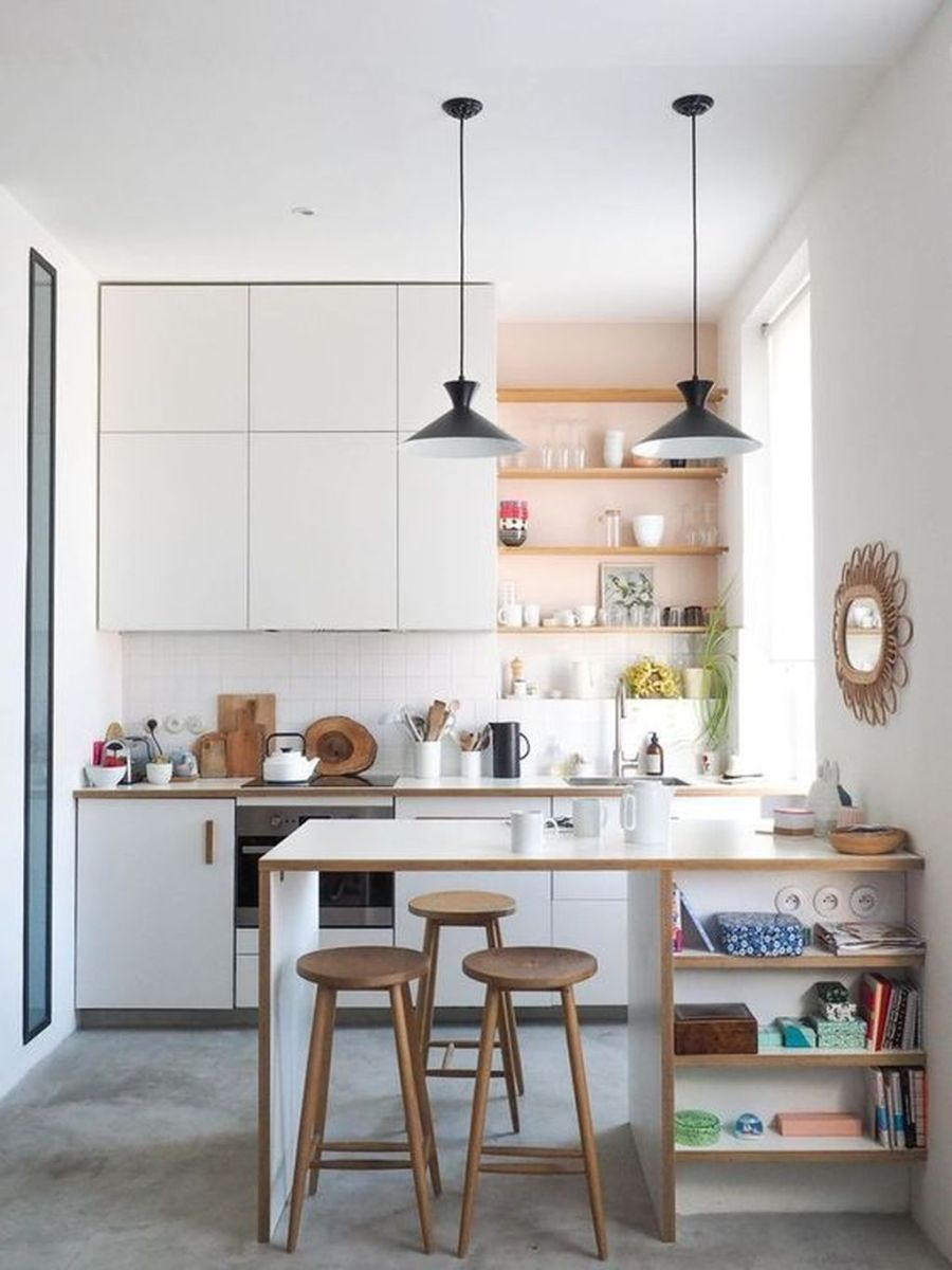Gorgeous Small Kitchen And Dining Room Design Ideas 33