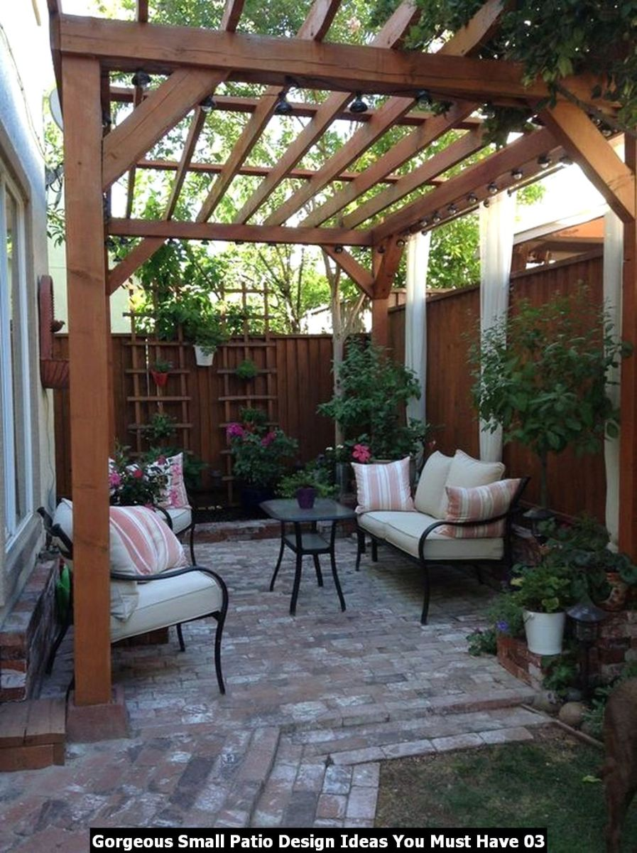 Gorgeous Small Patio Design Ideas You Must Have 03