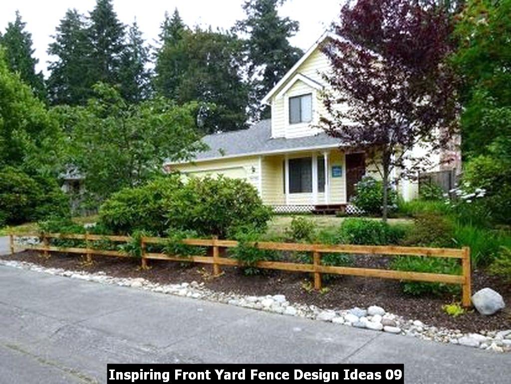 Inspiring Front Yard Fence Design Ideas 09