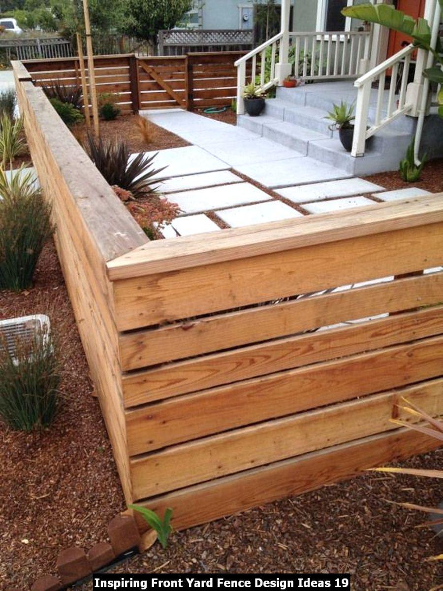 Inspiring Front Yard Fence Design Ideas 19