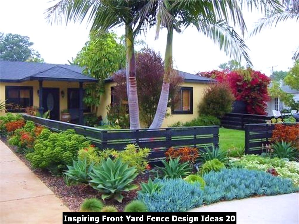 Inspiring Front Yard Fence Design Ideas 20