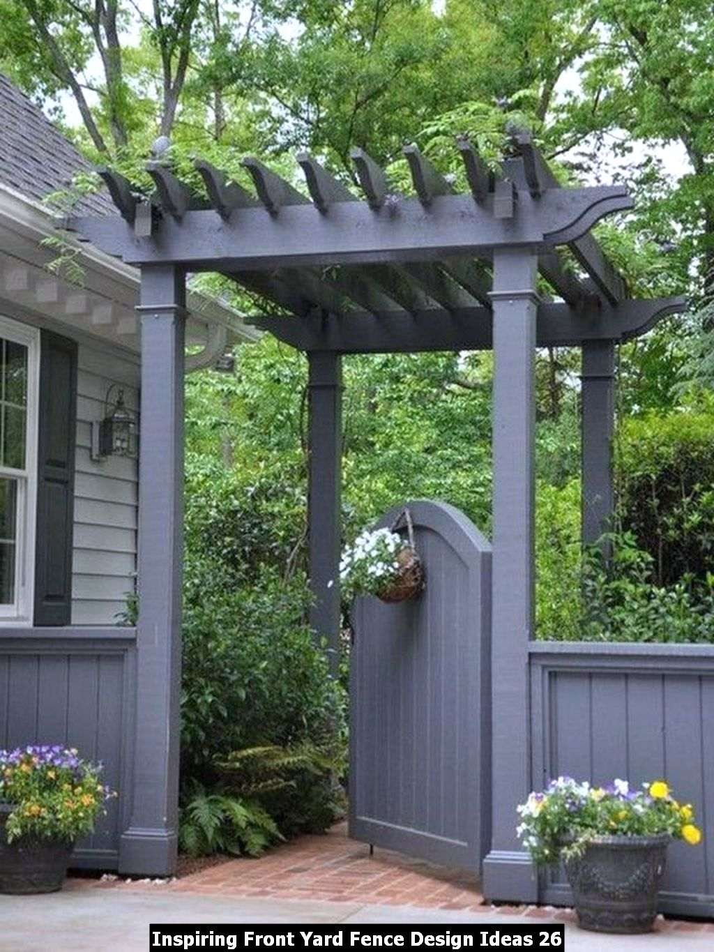 Inspiring Front Yard Fence Design Ideas 26