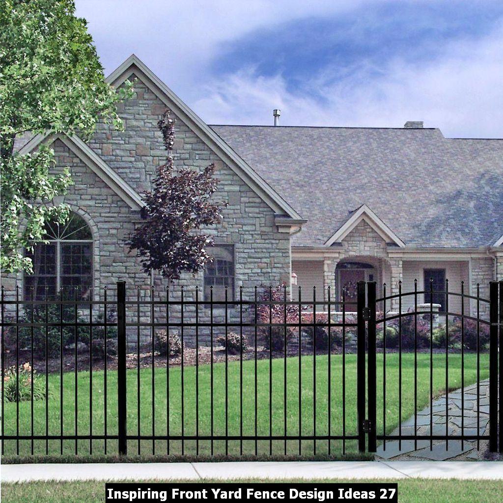 Inspiring Front Yard Fence Design Ideas 27