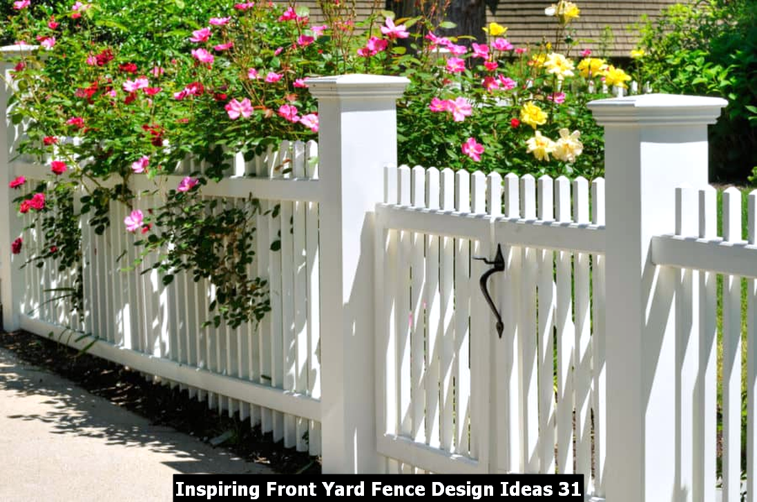 Inspiring Front Yard Fence Design Ideas 31