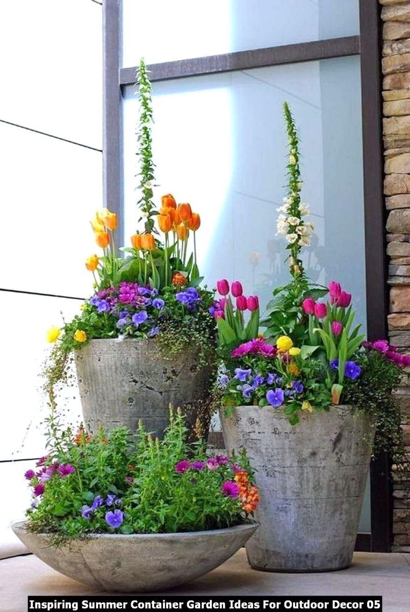 Inspiring Summer Container Garden Ideas For Outdoor Decor 05