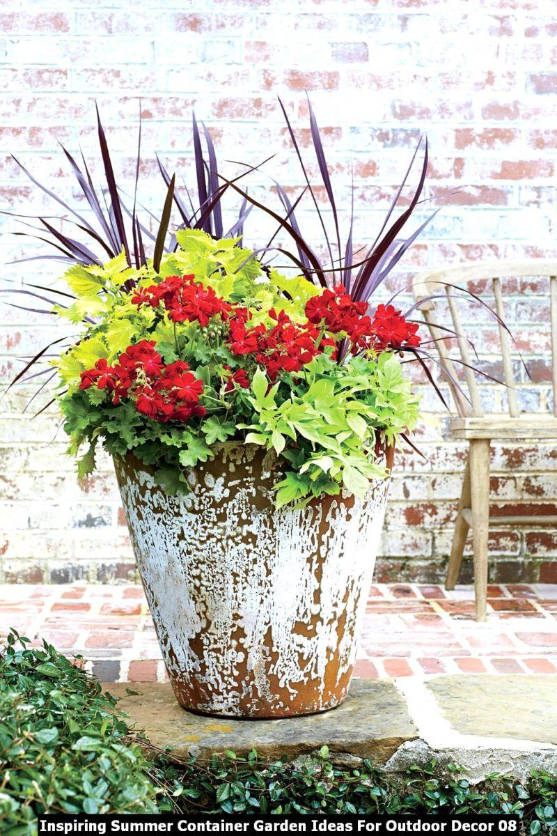 Inspiring Summer Container Garden Ideas For Outdoor Decor 08