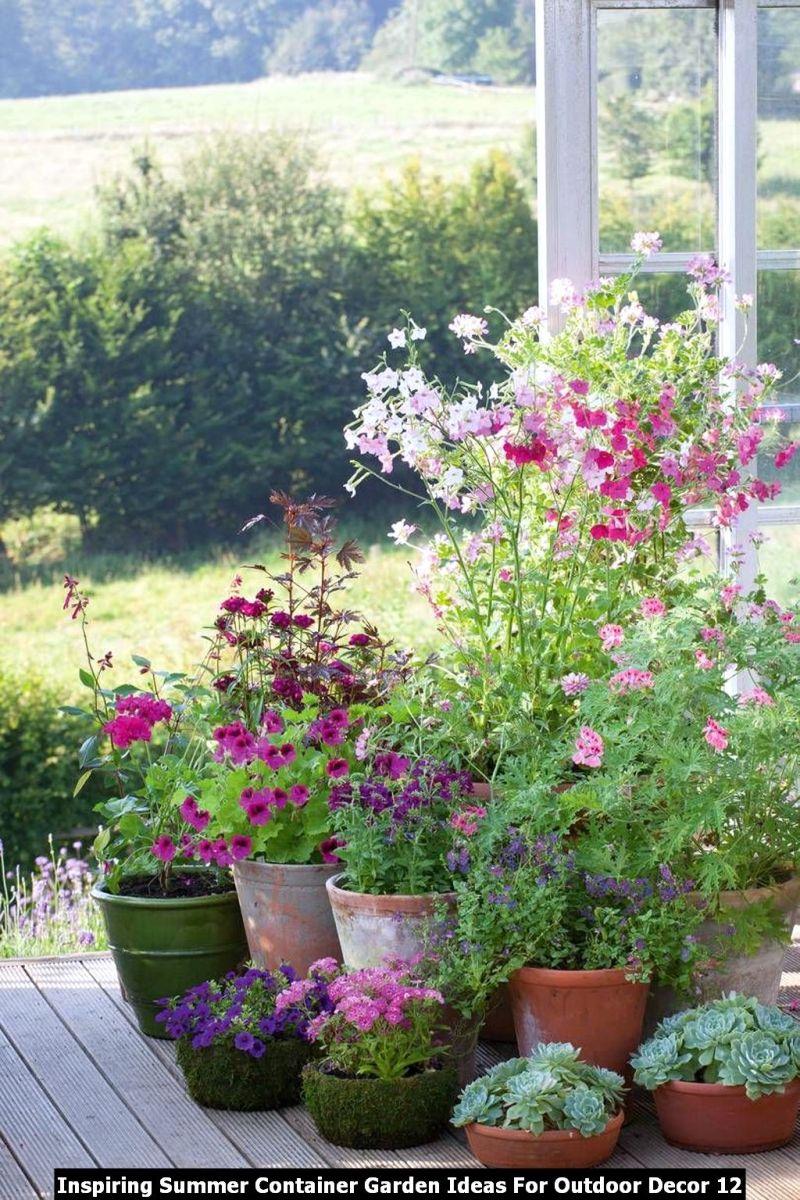 Inspiring Summer Container Garden Ideas For Outdoor Decor 12