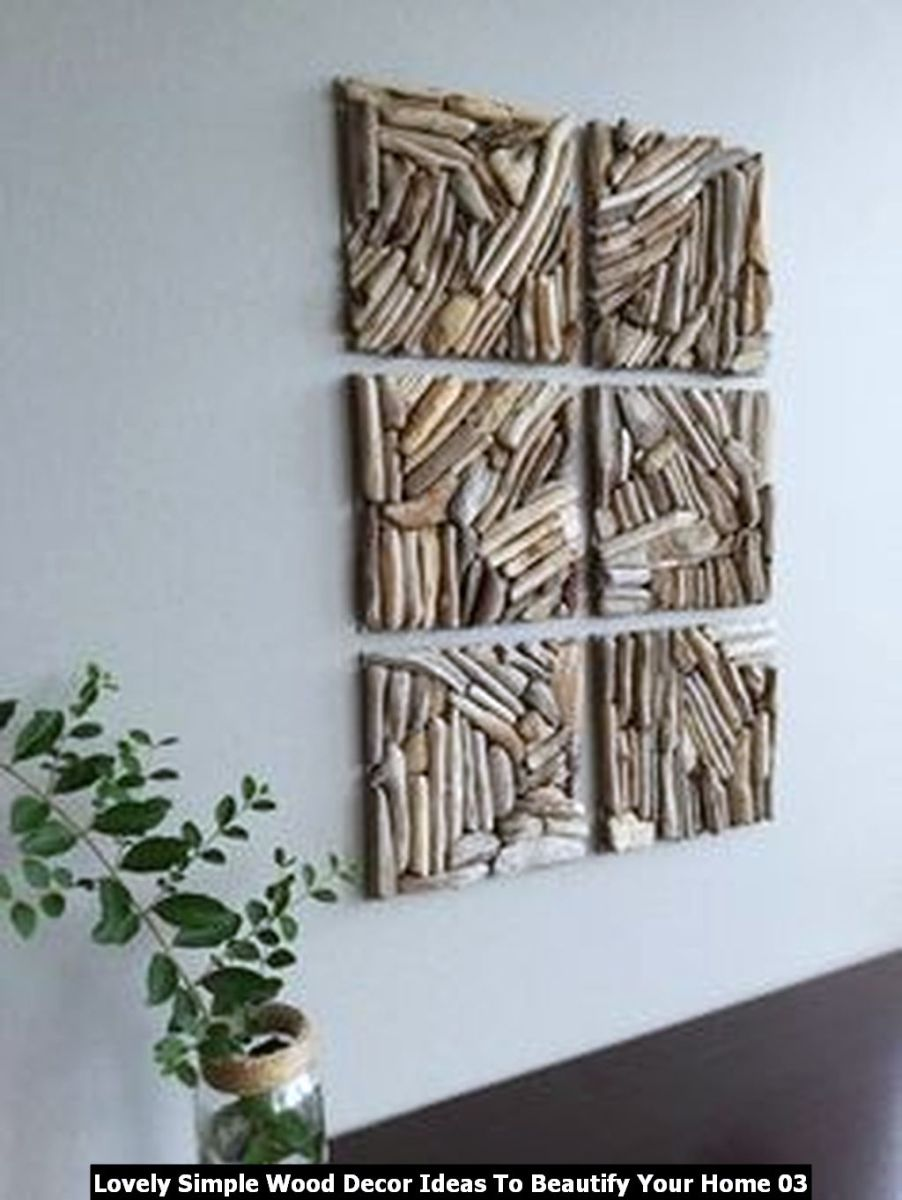 Lovely Simple Wood Decor Ideas To Beautify Your Home 03