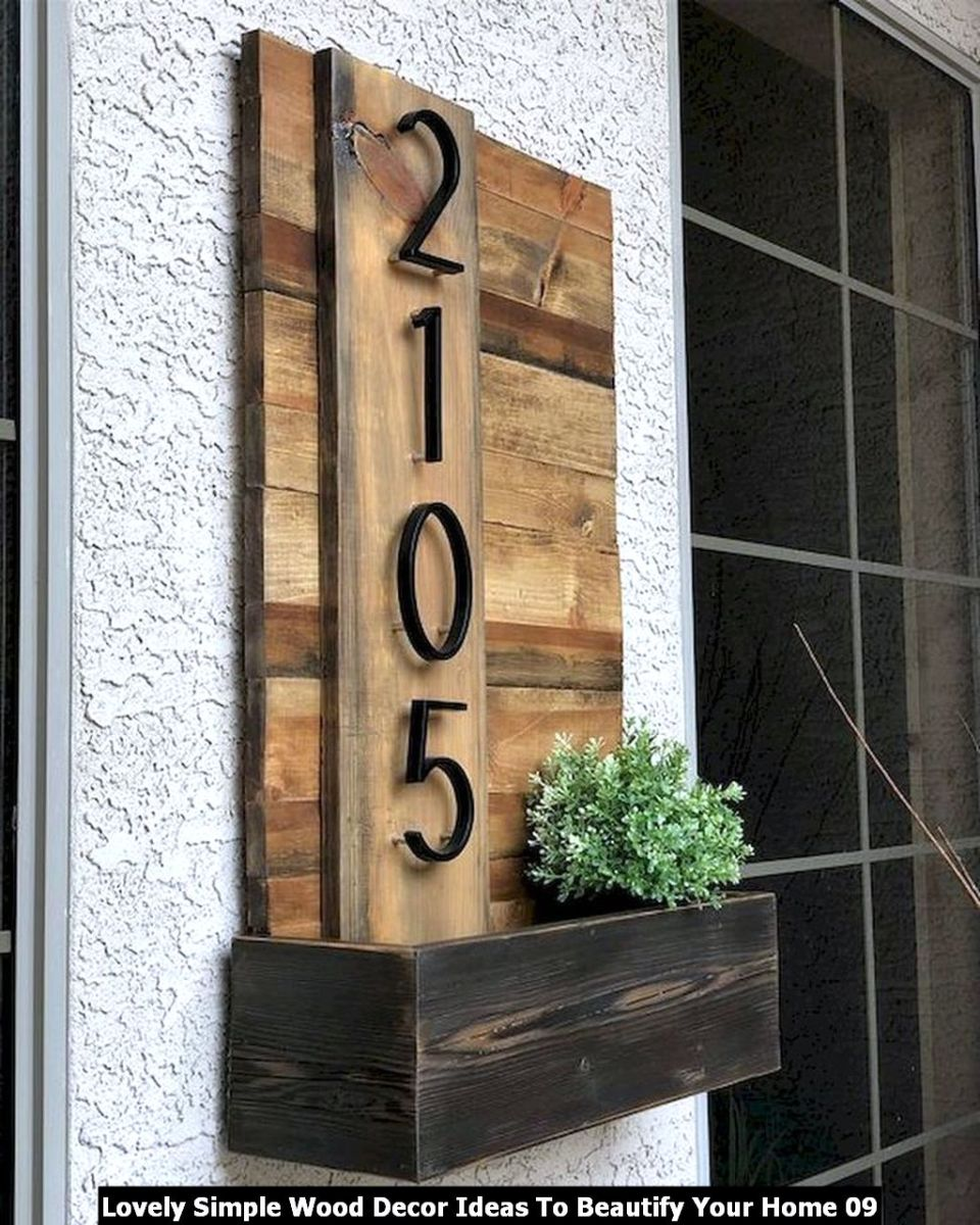 Lovely Simple Wood Decor Ideas To Beautify Your Home 09
