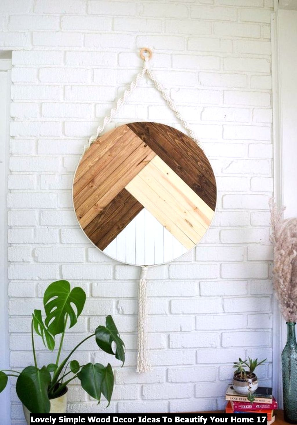 Lovely Simple Wood Decor Ideas To Beautify Your Home 17