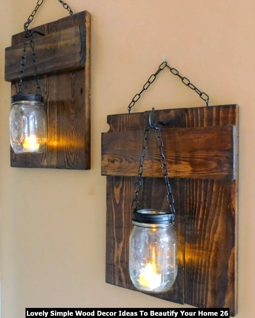 Lovely Simple Wood Decor Ideas To Beautify Your Home 26