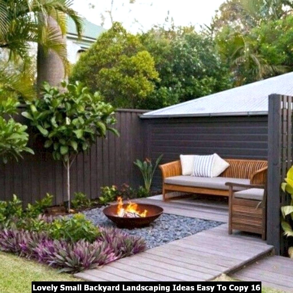 Lovely Small Backyard Landscaping Ideas Easy To Copy 16