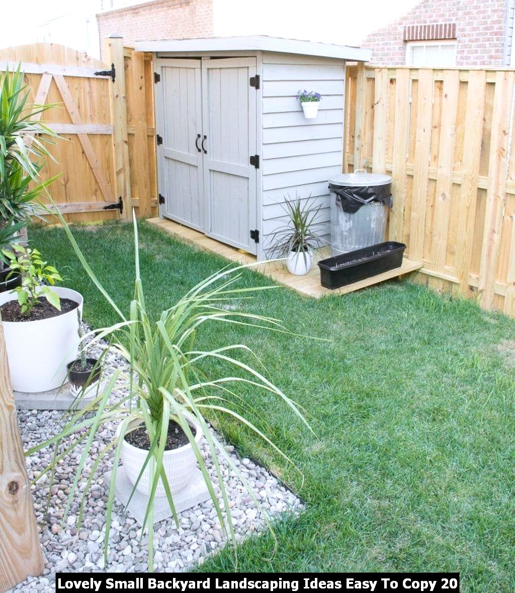 Lovely Small Backyard Landscaping Ideas Easy To Copy 20