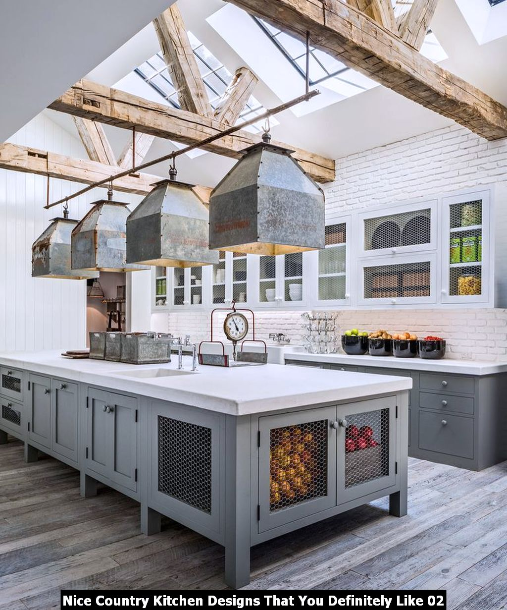 Nice Country Kitchen Designs That You Definitely Like 02