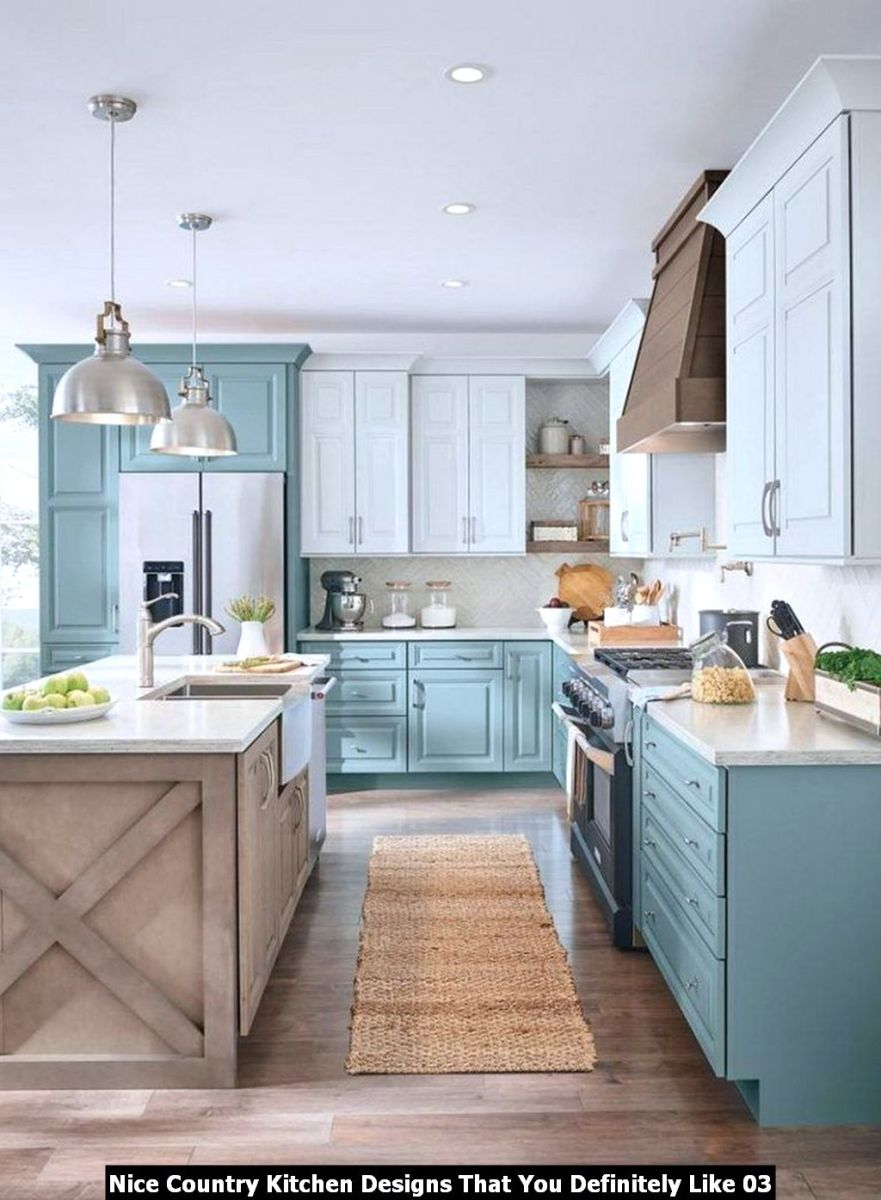Nice Country Kitchen Designs That You Definitely Like 03