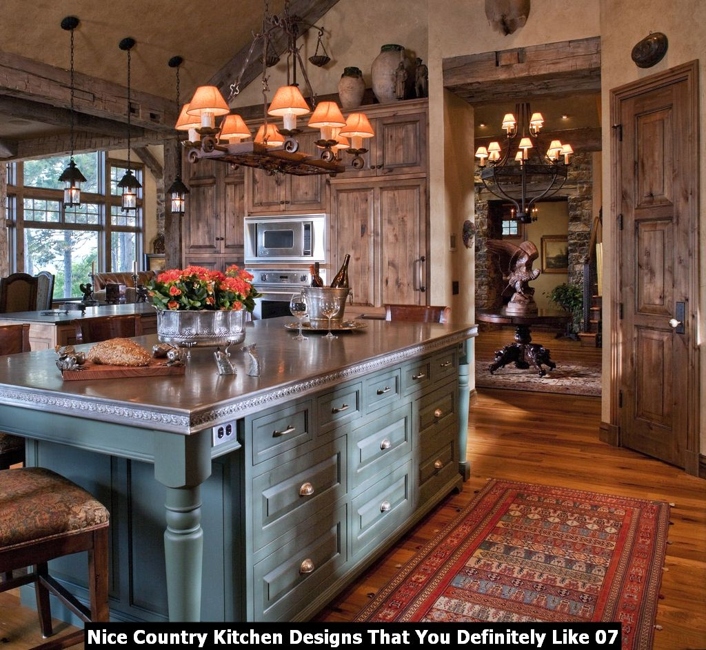 Nice Country Kitchen Designs That You Definitely Like 07