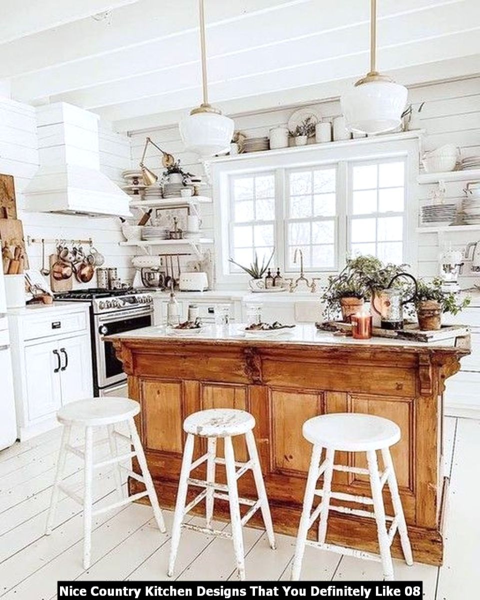 Nice Country Kitchen Designs That You Definitely Like 08