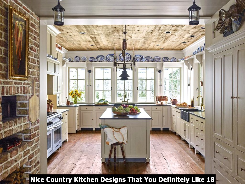 Nice Country Kitchen Designs That You Definitely Like 18