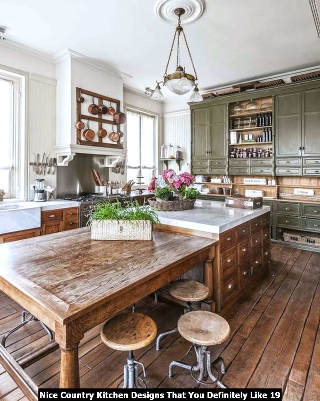 Nice Country Kitchen Designs That You Definitely Like 19