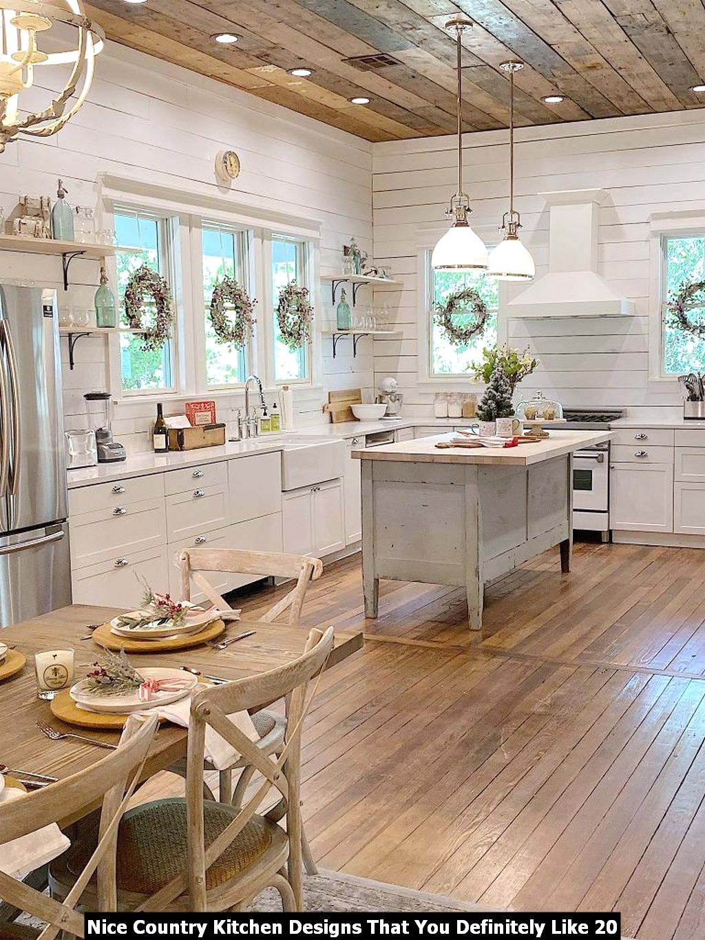 Nice Country Kitchen Designs That You Definitely Like 20