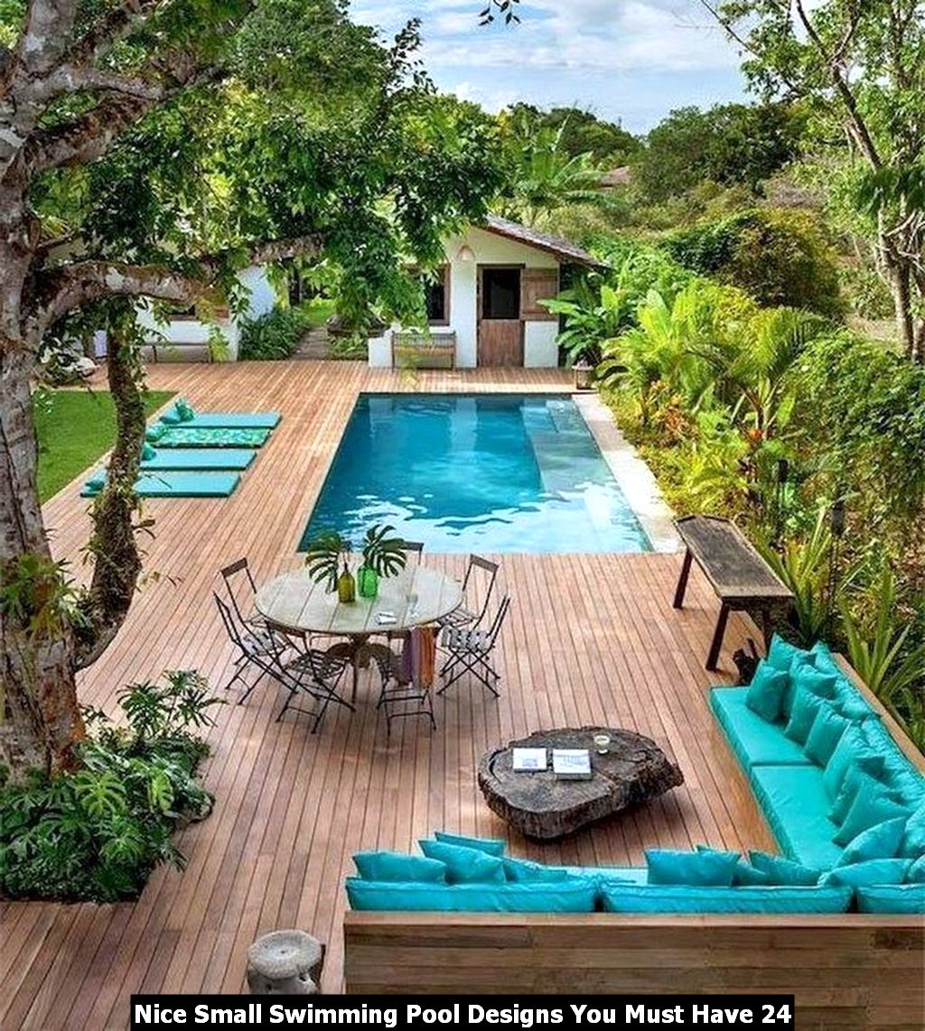 Nice Small Swimming Pool Designs You Must Have 24