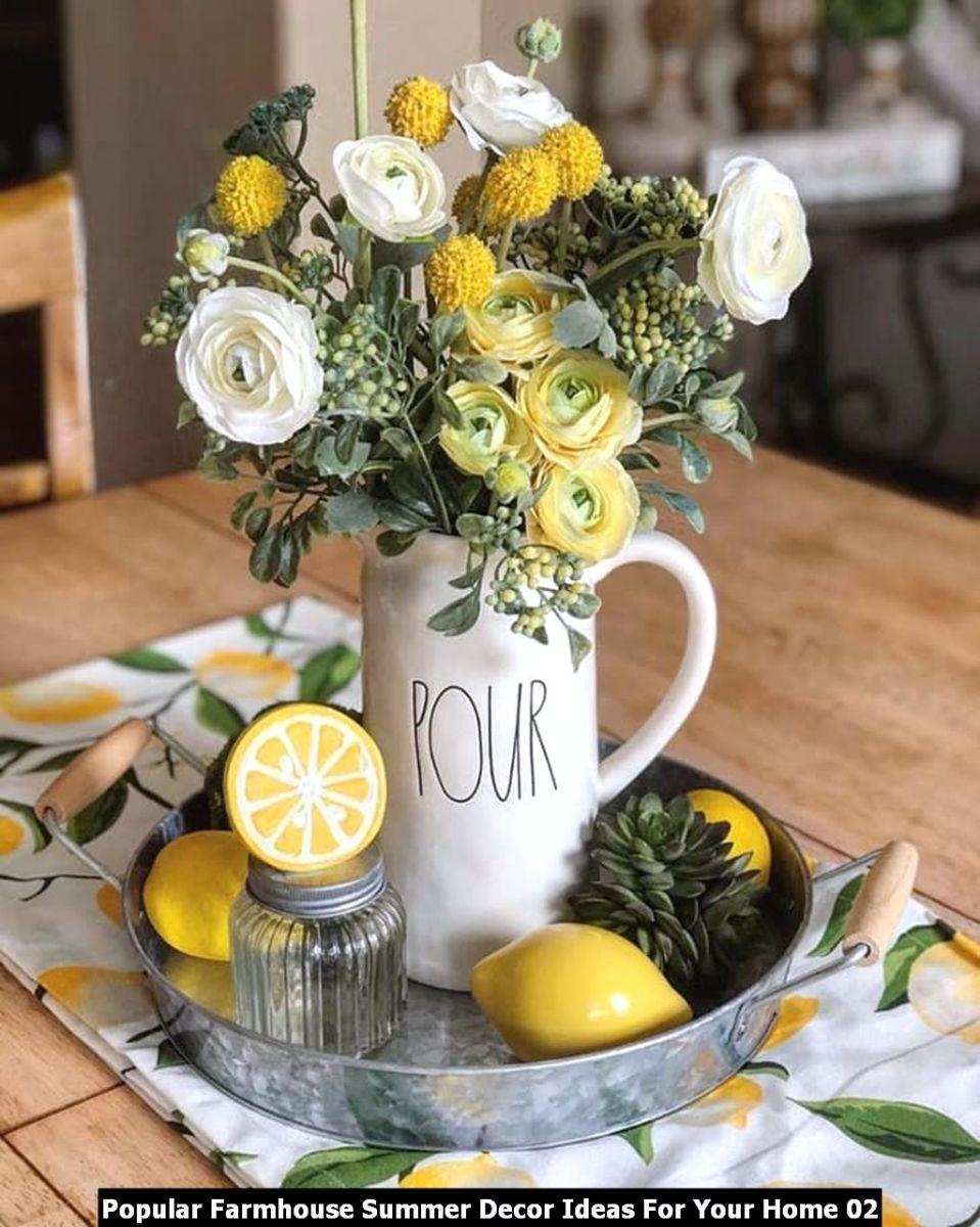 Popular Farmhouse Summer Decor Ideas For Your Home 02