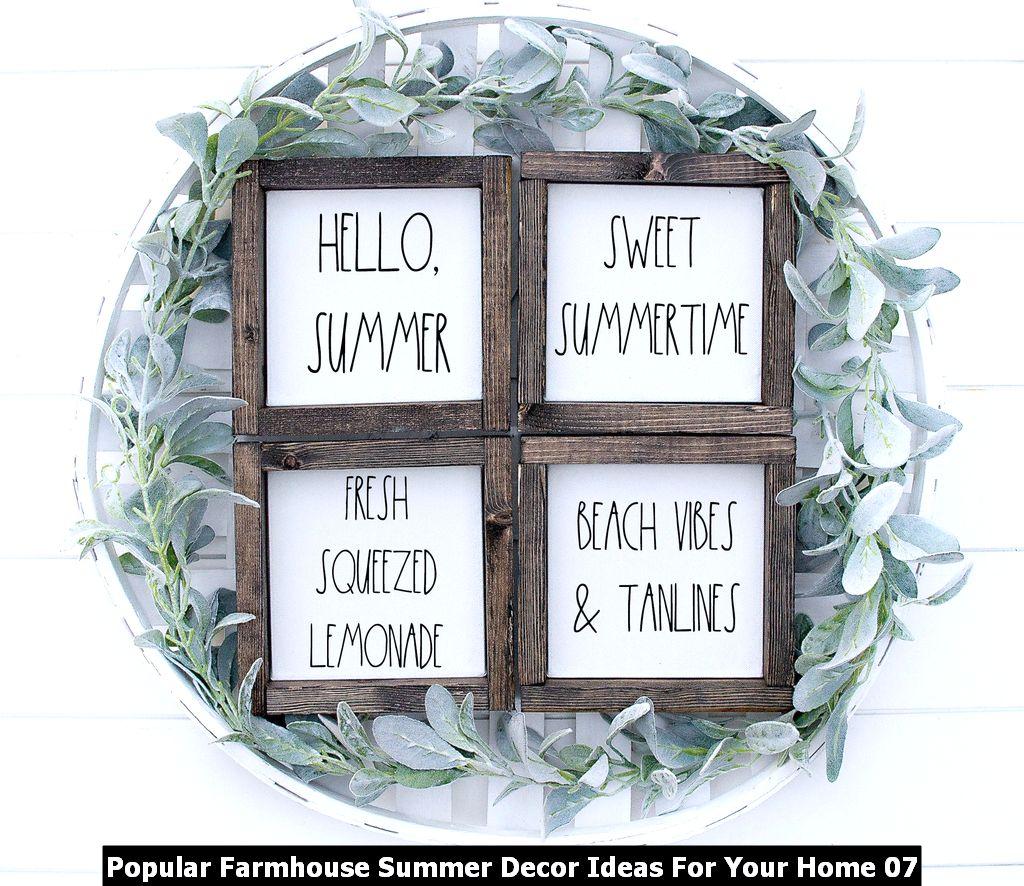 Popular Farmhouse Summer Decor Ideas For Your Home 07