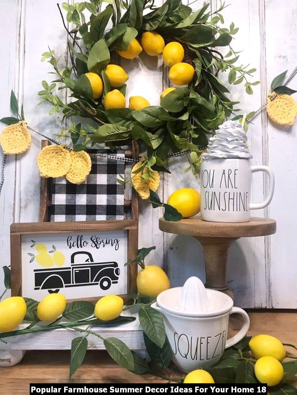 Popular Farmhouse Summer Decor Ideas For Your Home 18