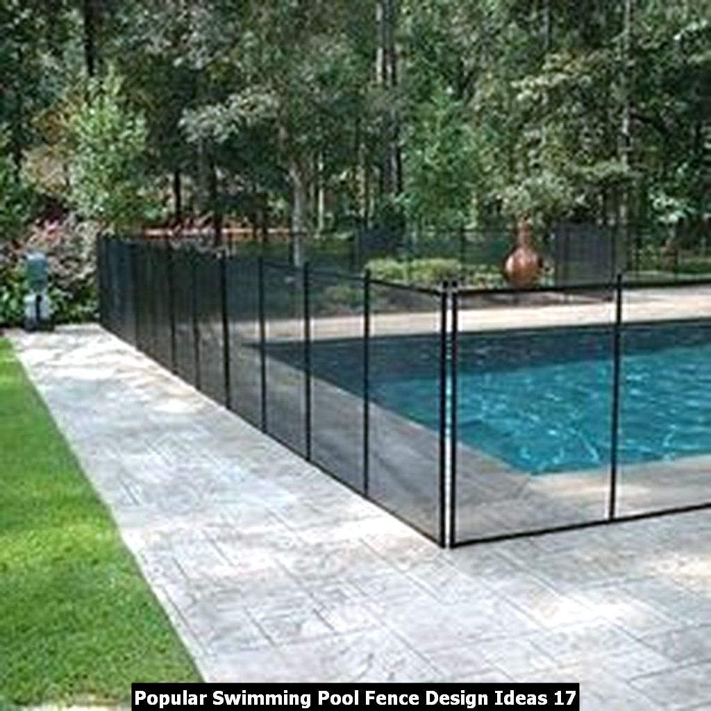 Popular Swimming Pool Fence Design Ideas 17
